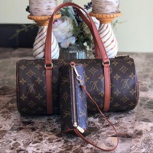 2 BAGS AUTH Louis Vuitton Papillon 30 W/Pouch EXCL